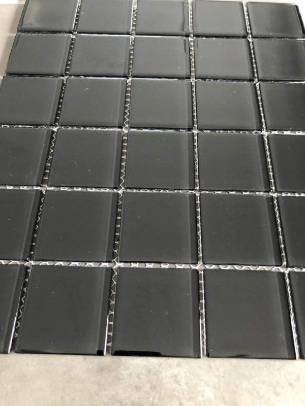 Pool Tiles Glass - Black