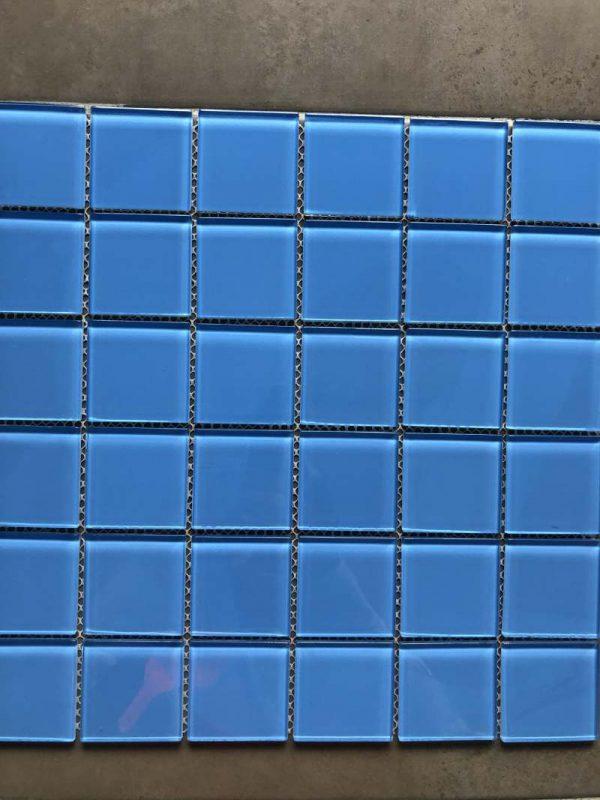 Pool Tiles Glass - Lighter blue