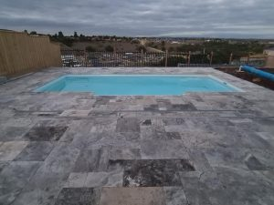 Silver Travertine Unfilled And Tumbled
