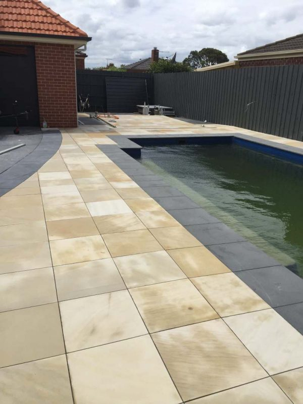 Suede Sand Natural - Sandstone Pool Coping